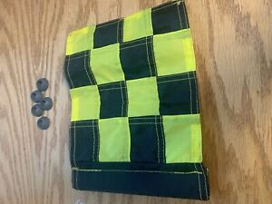 9 Standard Golf Tube Small Checkered Flags Placement Pin Par aide W 5 Grommets