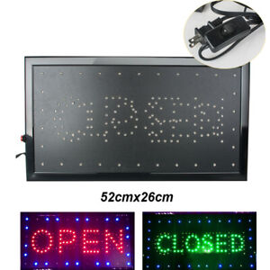 Ultra Bright Led Business Open Closed Sign Flashing Neon Shop Bar Board On off