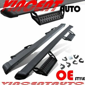 Fit 07 18 Chevy Silverado sierra Crew Cab 3 Hoop Step Nerf Bar Running Boards