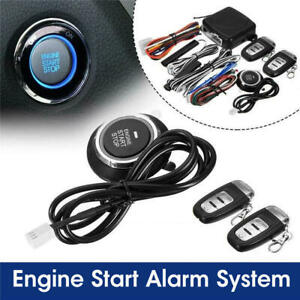 9pcs Dc 12v Passive Keyless Entry Push Button Start Stop Remote Engine Start New