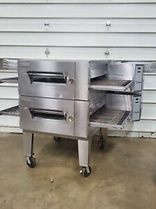 Lincoln Impinger 32 1600 Double Stack Nat Gas Conveyor Pizza Ovens Must See