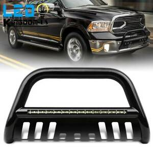 3 Bull Bar Bumper Guard For 2009 2018 Dodge Ram 1500 Grille W Led Light Bar