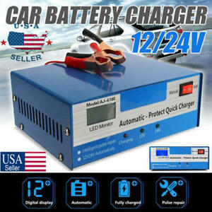 Automatic Quick Car Battery Charger Intelligent Pulse Repair Truck 12v 24v New