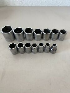 Snap On 313twya 1 14pc 1 2 Dr Shallow 6pt Socket Set 3 8 1 1 4 Free Ship Id