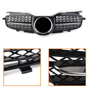 Front Upper Grill Guard Chrome Black For Mercedes Benz Slk Class R170 1998 2004