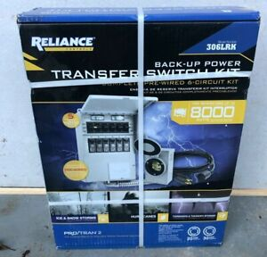 Reliance Back up Power Transfer Switch Kit up To 8 000 W 306lrk New