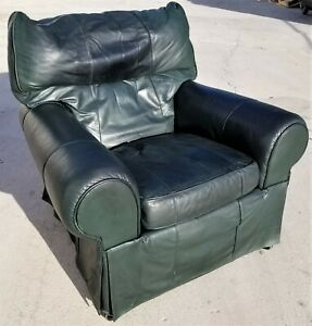Mcm Leathercraft Easeback Recliner Skirted Leather Lounge Club Armchair Chair
