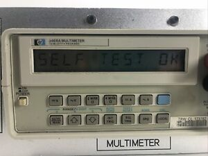 Hp 3468a Digital Multimeter Self tested Modified For Rack Mount Educational