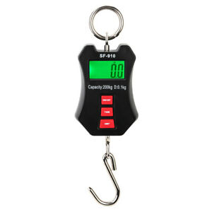 Portable Digital Hanging Scale 200 Kg 440 Lbs Industrial Crane Scale Battery