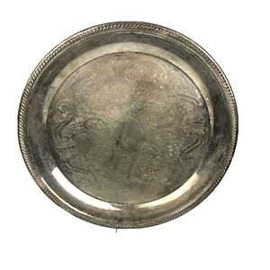 F B Rogers Silver Company Serving Plate Tray 13 Vintage Vtg Taunton Mass