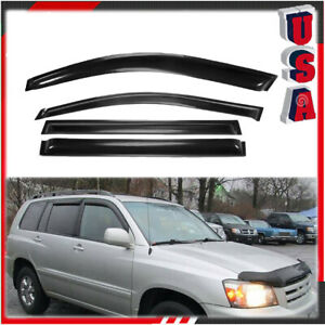 4pc Window Visors For Toyota Highlander 2008 2009 2010 2011 2012 2013 Rain Guard