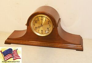 Restored Seth Thomas Chime No 92 1926 Antique Cabinet Clock In Mahogany
