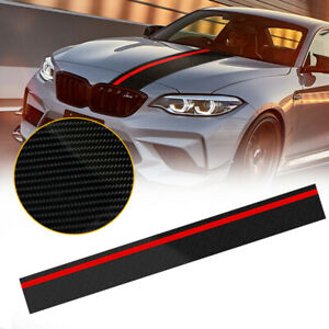 Car Rally Racing Stripes Front Hood Carbon Fiber Decal Wrap Sticker Auto Parts