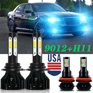 For Chrysler 300 2011 2012 2013 2014 4 led Headlight High Low fog Light Bulbs