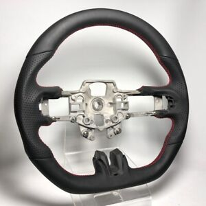 All Leather Sportive Flat Bottom Steering Wheel S550 15 17 Ford Mustang Gt Red