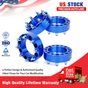 4x 2 8 Lug Wheel Spacers Adapters 8x6 5 For Chevy Silverado C K Gmc 2500 3500