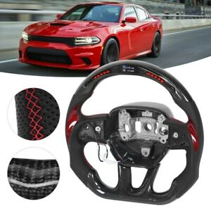 Carbon Fiber Steering Wheel Led For Dodge Challenger charger Srt Hellcat 2015 20