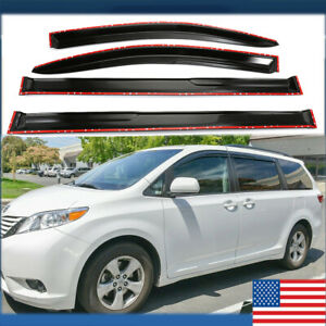 4pcs For Toyota Sienna 2011 2020 Jdm Window Visor Vent Sun Rain Guard Deflector