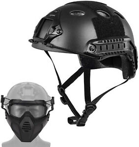 Tactical Airsoft Paintball Protective Combat FAST Helmet With Airsoft Face Mask $53.00