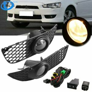 New Fog Lights Driving Lamp Kit W Switch Wiring For 07 15 Mitsubishi Lancer