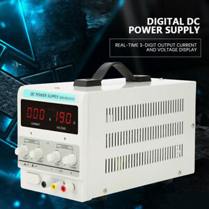 Adjustable Power Supply 30v 5a 110v Precision Variable Dc Digital Lab W cable