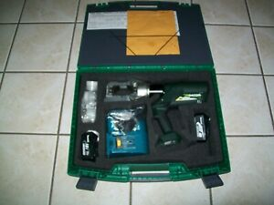 Nos Greenlee E12ccxl Cordless Hydraulic Crimper Cable Cutter 12 Ton Multi tool