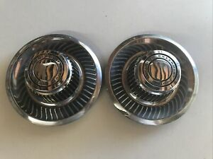 Original Chevrolet Rally Wheel Center Caps Pair 2 Used 69 Camaro