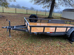 2020 14 2 16 Foot Dove Tail Trailer With 3 Ft Drop Gate