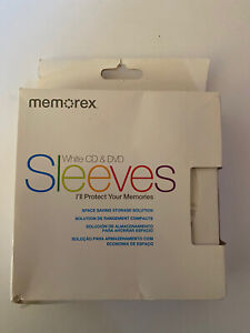 49 Cd Dvd White Paper Sleeve With Clear Window And Flap Envelopes Memorex
