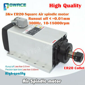 3kw 220v Air Cooled Spindle Motor Er20 Runout Off 0 01mm F Cnc Engraving Router