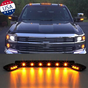 3pcs Amber Led Cab Roof Marker Top Lights For Chevrolet Silverado 1500 2500 3500