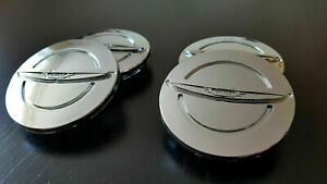 New Set X4 Chrysler 200 300 Pacifica Town Country Silver Wheel Center Caps