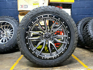 22x10 Fuel D680 Rebel Gray Wheels 33 At Tires 6x135 Ford F150 Expedition Tpms