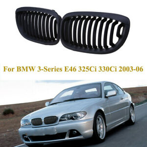 Front Kidney Grill Matte Black For Bmw 5 series E39 525 528 530 535 540 m5 97 03
