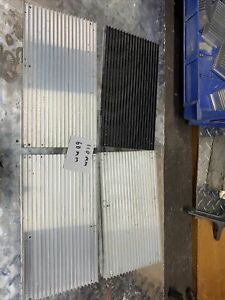 Lot Of 4 110mm By 60mm Aluminum Heat Sink For Led And Power Ic Transistor