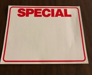 Bulk Case Of 1 000 Special Retail Store Sale Large Price Tags Signs Cards