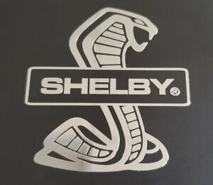 Shelby Cobra Gt350 Gt500 Snake Nickel Decal Sticker