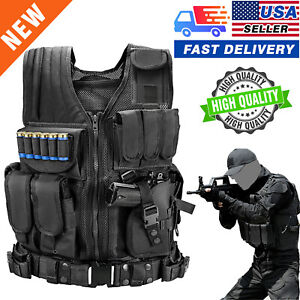 US Military Vest Tactical Holster Police Molle Assault Combat Gear $29.99