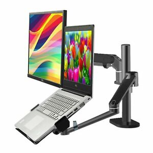 Height Adjustable Monitor 10 27 Laptop 10 17 Desk Office Stand With Gas Arm