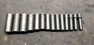 Snap On 1 2 Drive Deep Impact Socket Set 6 Point Metric Normal Wear