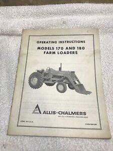 Allis chalmers 170 180 Farm Loaders Operating Instructions Manual