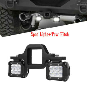 Tow Hitch Mounting Bracket 2x 4 Led Work Light Bar Pods Reverse 4wd Combo