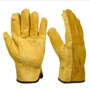 Cowhide Leather Mechanic Gloves Men s Construction Engineering Light Duty Driver