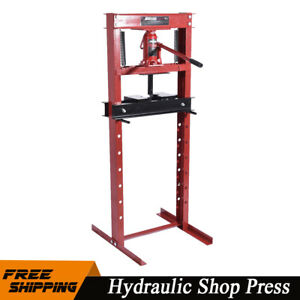 12 Ton 24 000 Lb Hydraulic Shop Press Garage Floor Press Heavy Duty Steel Plates