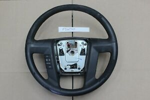 Oem 2009 14 Ford F150 F 150 Charcoal Black Leather Steering Wheel