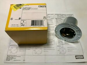 Hubbell Wiring Device kellems New Cs6375 50amp Flanged Twist lock Inlet 3p 4w