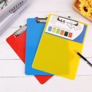A4 Clipboard Writing Document Holders Plastic Letter Size Sketch Drawing Board