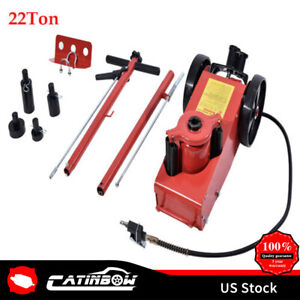 22 Ton Air Hydraulic Floor Jack Truck Power Lift Truck Repair Tool W Saddle Us