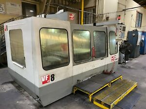 Used Haas Vf8 Cat 40 Cnc 3 axis Vertical Machining Center have Videos