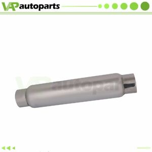 3 Inlet Outlet Stainless Exhaus Muffler Resonator 20 Inch Total Length